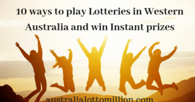 10 ways to play lotteries in Western Australia