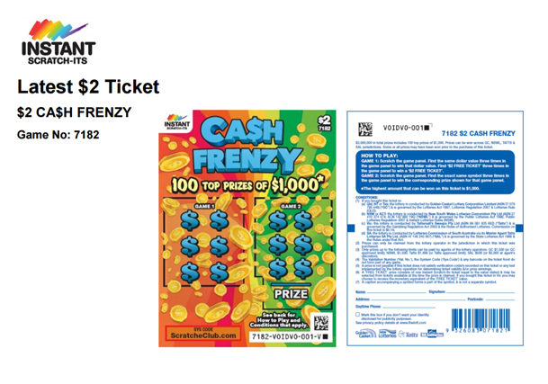 $ 2 Instant Lotto
