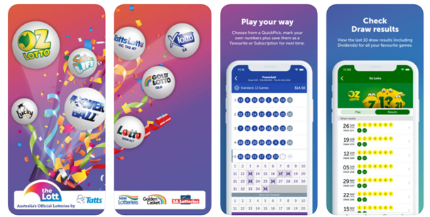 Mobile app to check lottery results