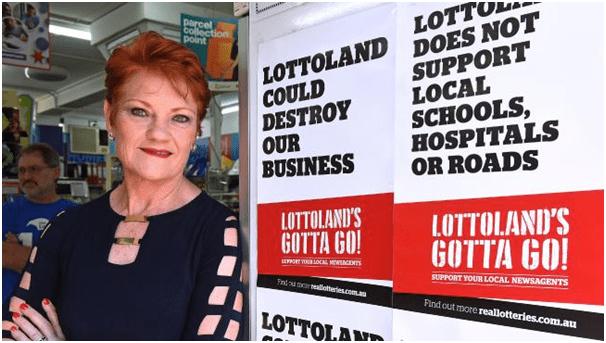 Lottery ban in Tasmania