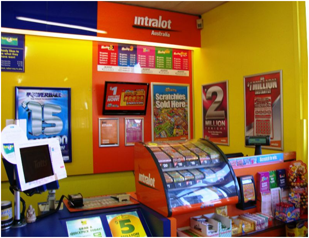 Lottery results at store