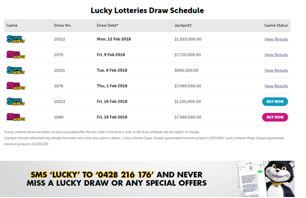 Lucky Lottery Draw and result