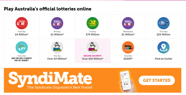 NSW lotteries in Australia