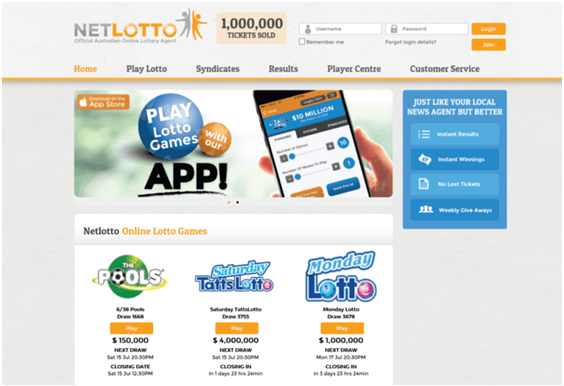 How to join Netlotto to play Australians?