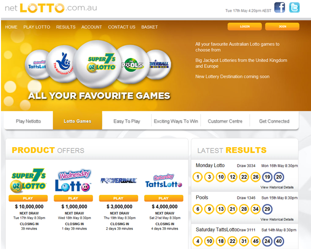 Netlotto Official lottery agent of Australia