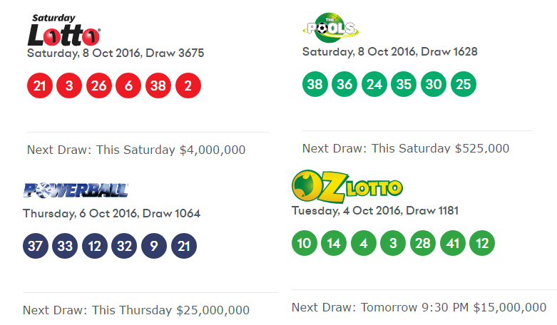 Saturday Lottery Numbers Australia