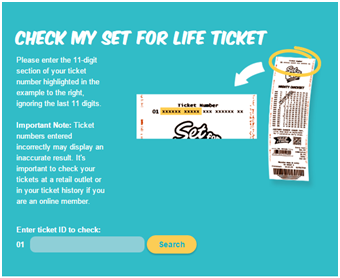 Set For Life Ticket Check