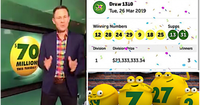 When are lottery results available for lotteries in Australia?