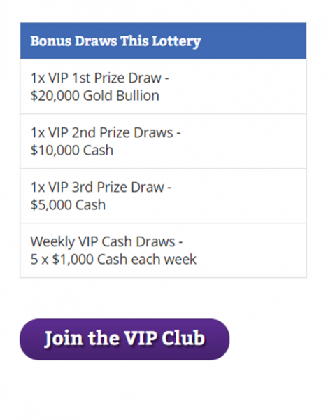 Join Deaf Lotteries VIP Cub