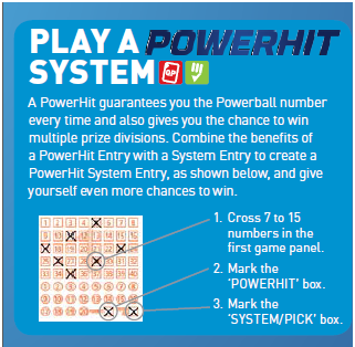 Powerball System Entries