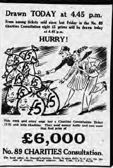 The unprecedented level of anticipation felt by WA's lottery-playing public for Lotto is evident from this newspaper headline in The Daily News. Daily News, 1 Feb 1979